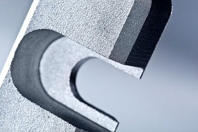 Ansicht der Schnittkanten beim Plasmaschneiden