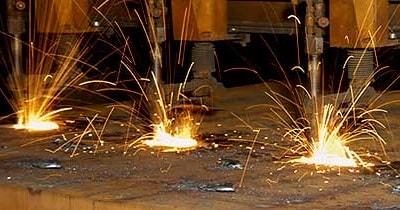 Autogenschneiden bei der Vibru-Stahl GmbH