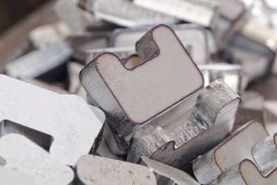 Plasma-Brennteile aus Aluminium mit abgerundeten Ecken
