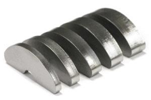 Darstellung von Brennteilen aus Metall mit unterschiedlichen Materialstärken